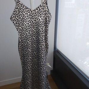 Satin Cheetah Dress